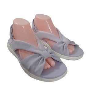 Ryka Womens Purple Open Toe Fabric Sandals Size 9M